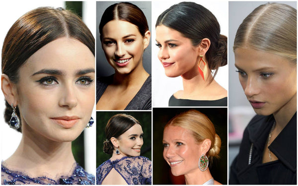 center part hairstyle trends