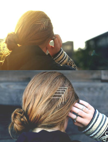 chevron shaped hair clip