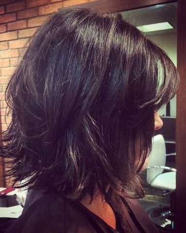 short layered weave