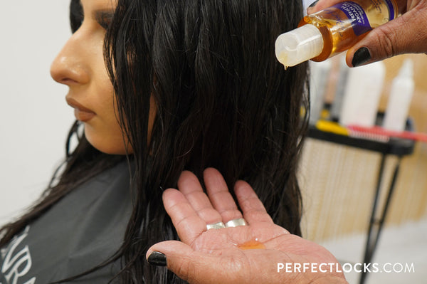 add argan oil for sleek hair
