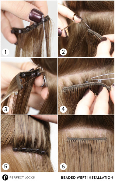 how to install beaded weft hair extensions