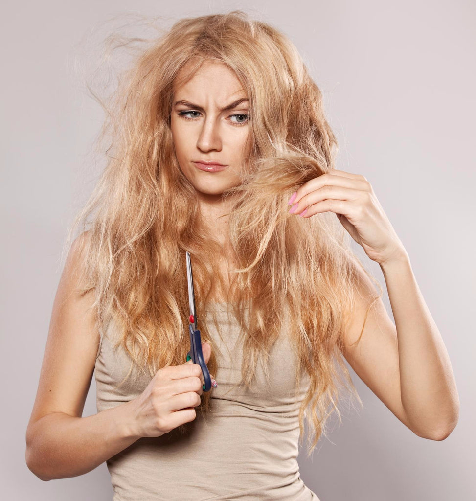 damaged hair extensions