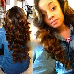 curled wavy hair
