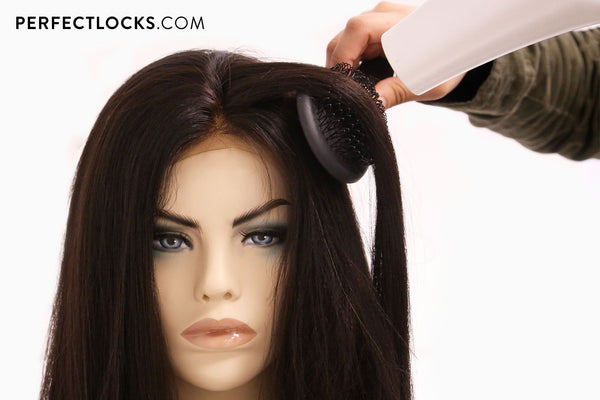 how to blowdry a frontal