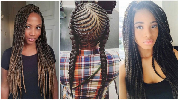 braiding with bulk human hair exentesions