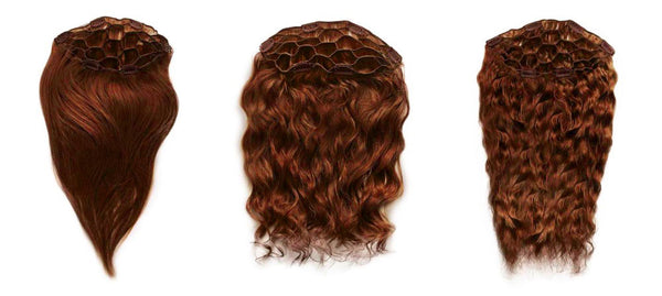 reddish clip-in hair extensions