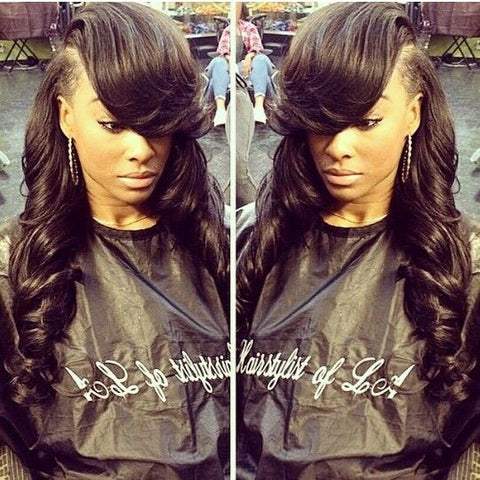 deep side part sew-in