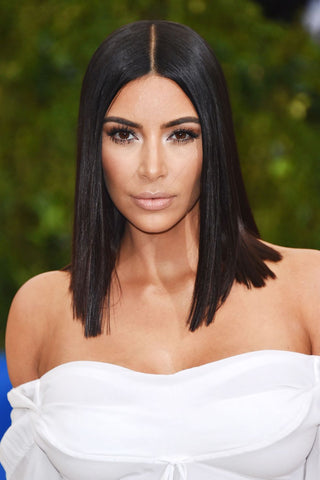 kim kardashian short straight hair