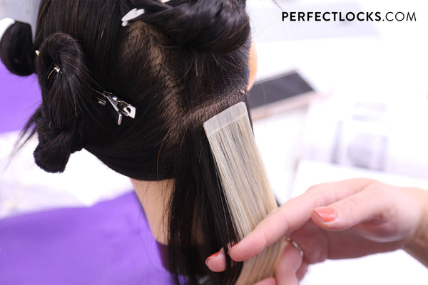 tape-in hair extensions install classes