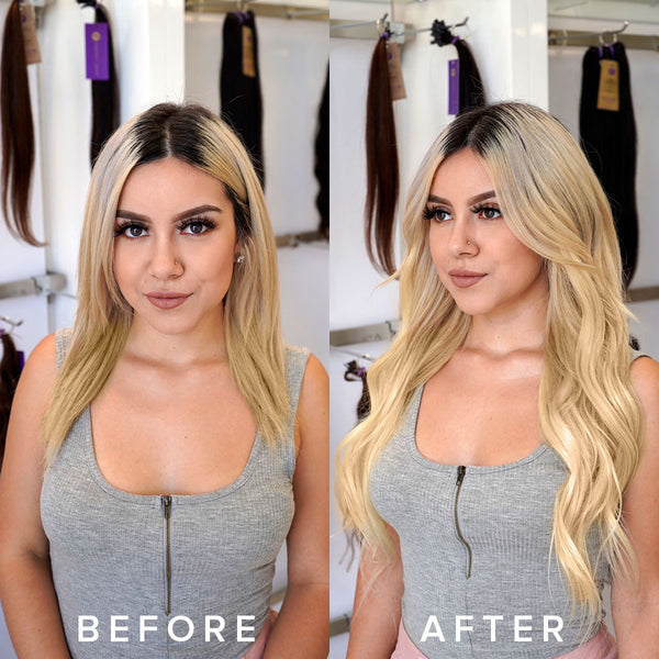 hand-tied rows before after