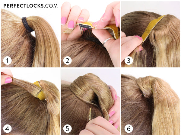 how to install a clip-in ponytail