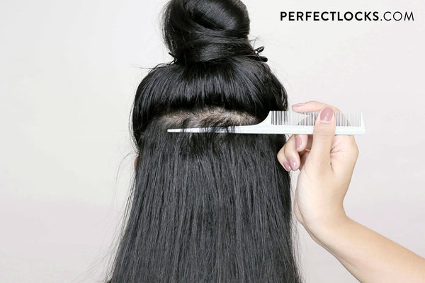 part to install clip-in hair extensions