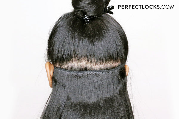 install smaller wefts at the top