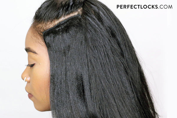 repeat the steps to keep your wefts in place