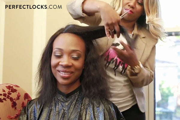 hair extension installation for makeover