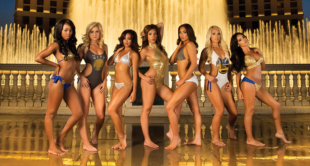 warriors dance team swimsuit calendar