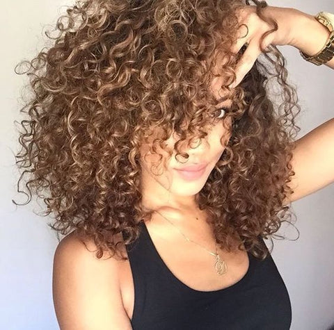 lots of curly hair