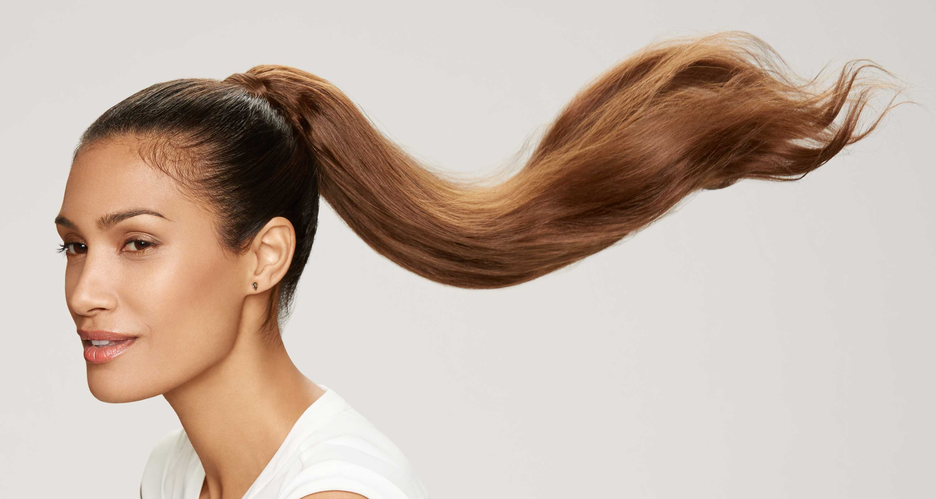 human hair clip-in ponytail