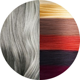 grey hair used for colored hair extensions