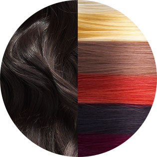 virgin hair and naturally colored hair options