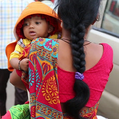 indian woman with baby