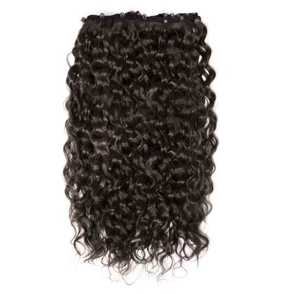 Curly Beaded Weft Extensions