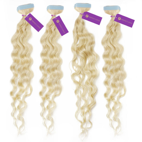 4 x Curly Tape-In Hair Extension Bundle Deal