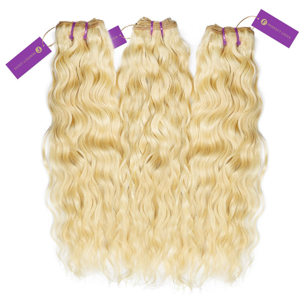 3 x Curly Colored Weave Bundle Deal