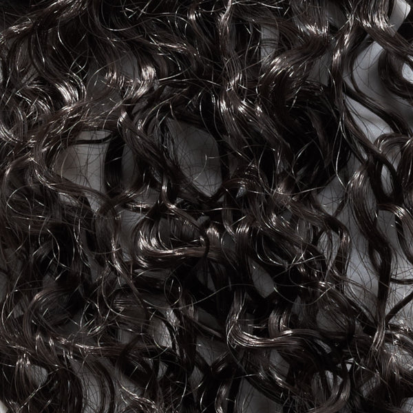 curly skin weft texture close-up