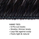 Straight Virgin Hand-Tied Weft