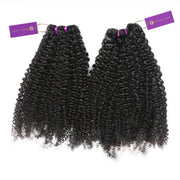2 x Kinky Curly Steam Permed Weave Bundle Deal