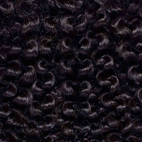 3 x Kinky Curly Steam Permed Weave Bundle Deal + Closure