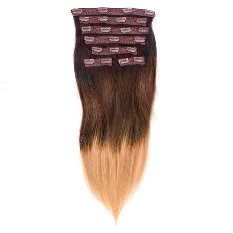 Straight Ombré 7 Piece Clip-In Set | Perfect Locks