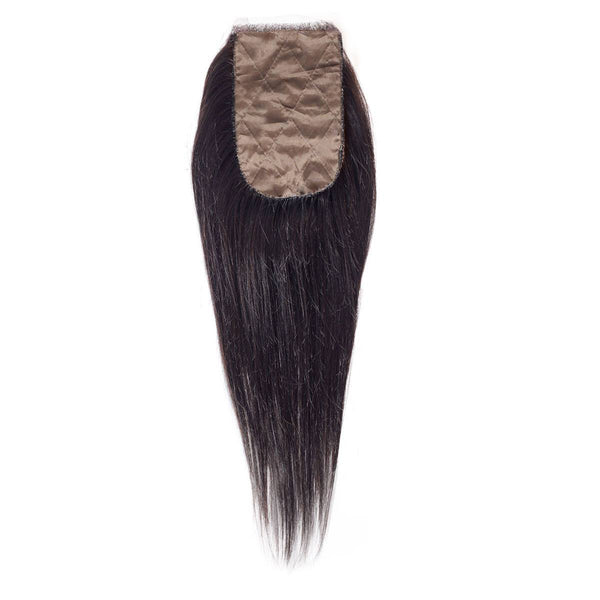 Straight Silk Base Closure