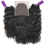2 x Curly Virgin Weave Bundle + Closure Deal