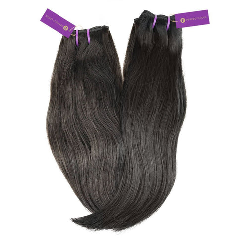 2 x Straight Virgin Weave Bundle Deal | Perfect Locks