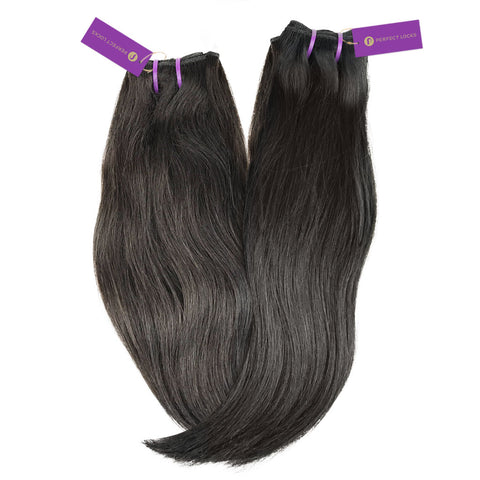 2 x Straight Virgin Weave Bundle Deal (Hand-Tied)