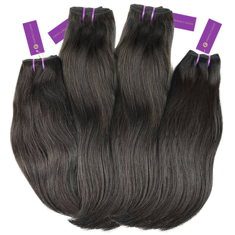 4 x Straight Virgin Weave Bundle Deal | Perfect Locks