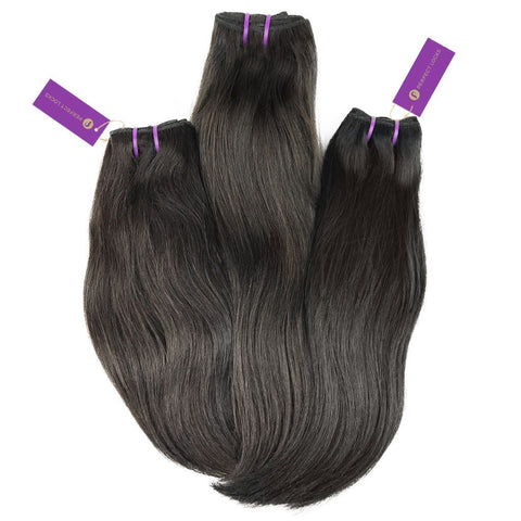 3 x Straight Virgin Weave Bundle Deal | Perfect Locks
