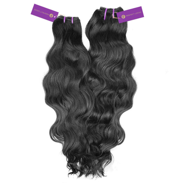 2 x Wavy Virgin Weave Bundle Deal
