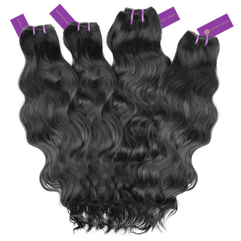4 x Wavy Virgin Weave Bundle Deal | Perfect Locks
