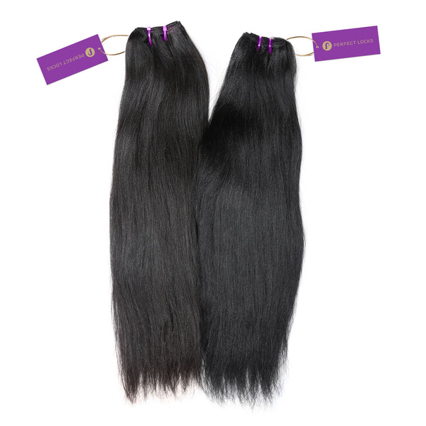 2 x Relaxed Straight Steam Permed Weave Bundle Deal