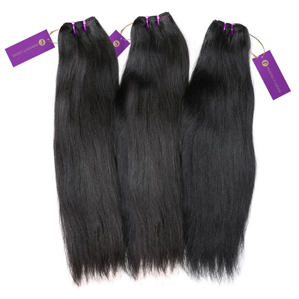3 x Relaxed Straight Steam Permed Weave Bundle Deal