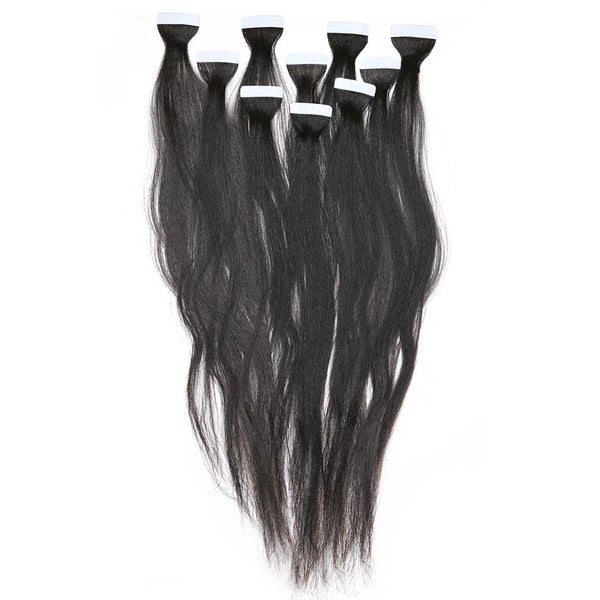 relaxed straight tape in hair extensions