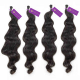 4 x Wavy Fusion I-Tip Hair Extension Bundle Deal