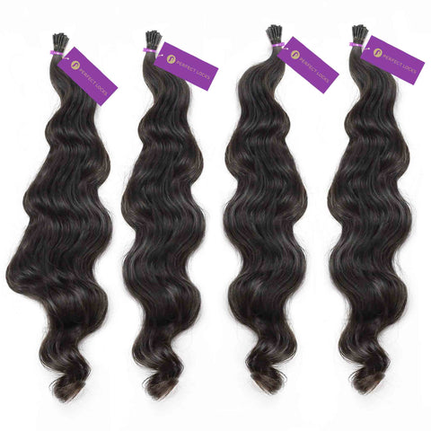 Wavy Fusion I-Tip Hair Extension Bundle Deal | Perfect Locks