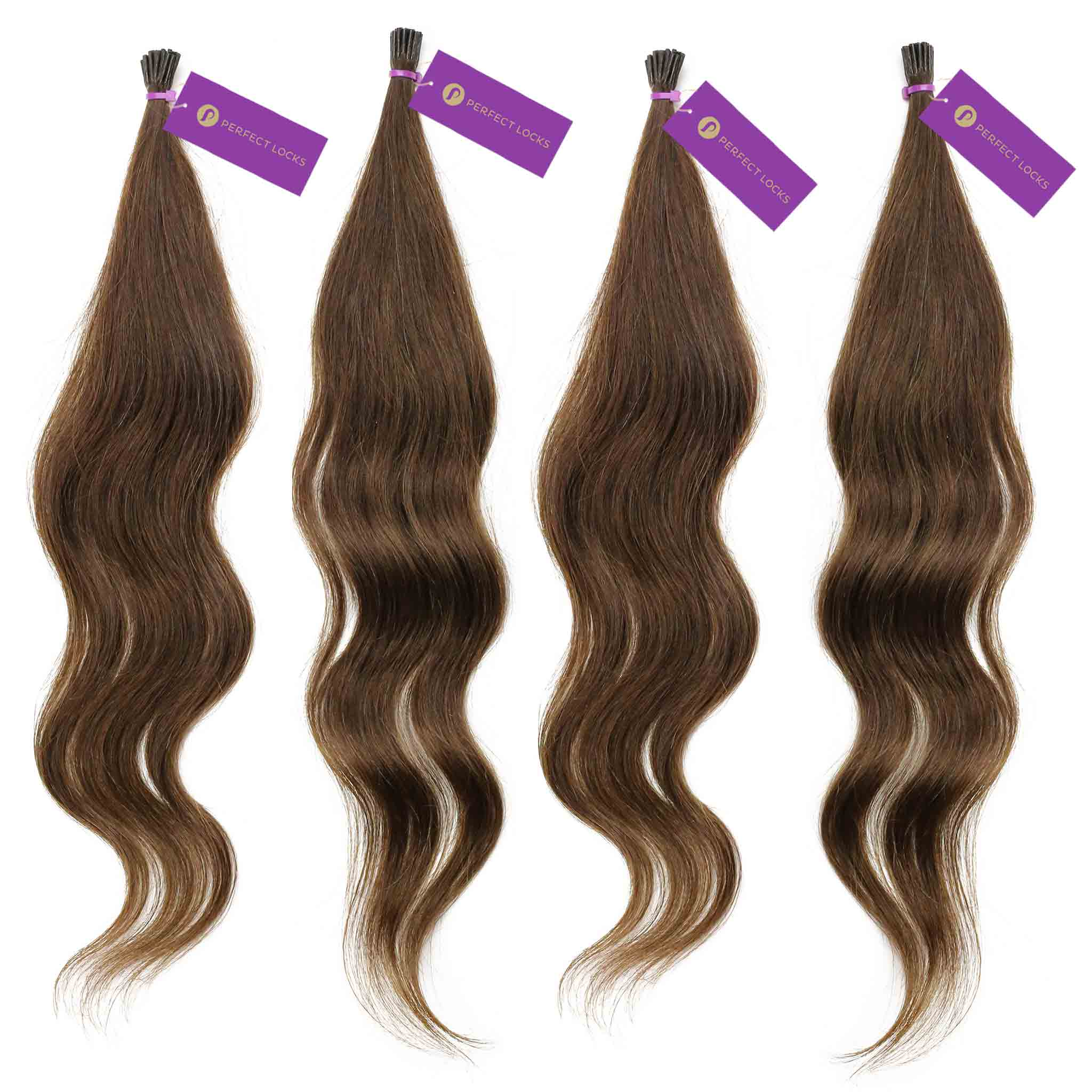 Wavy Fusion I Tip Hair Extension Bundle Deal Perfect Locks