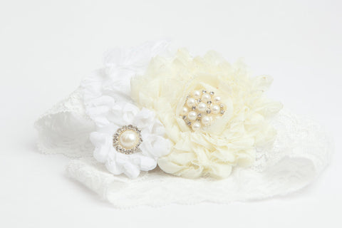 Ivory&White Couture Garter