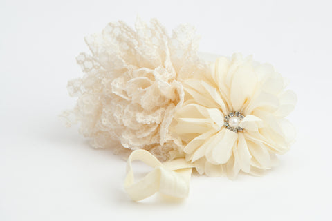L&L Double Flower Hairband