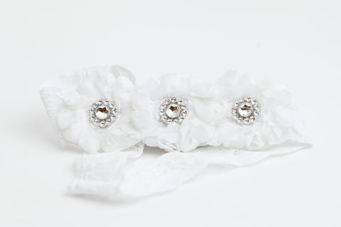 Triple Flower Couture Garter